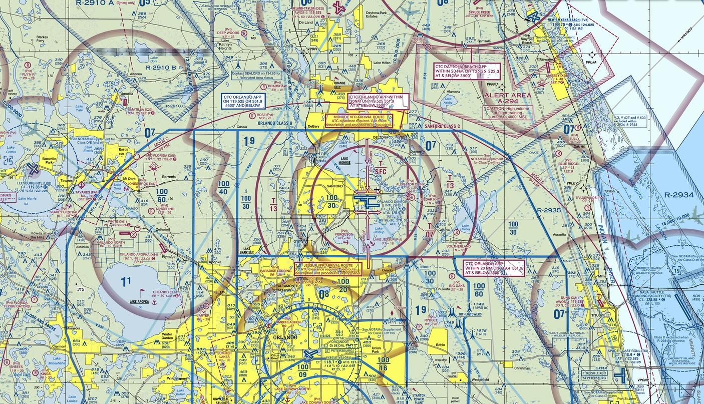 KSFB - Orlando Sanford Airport - Chart