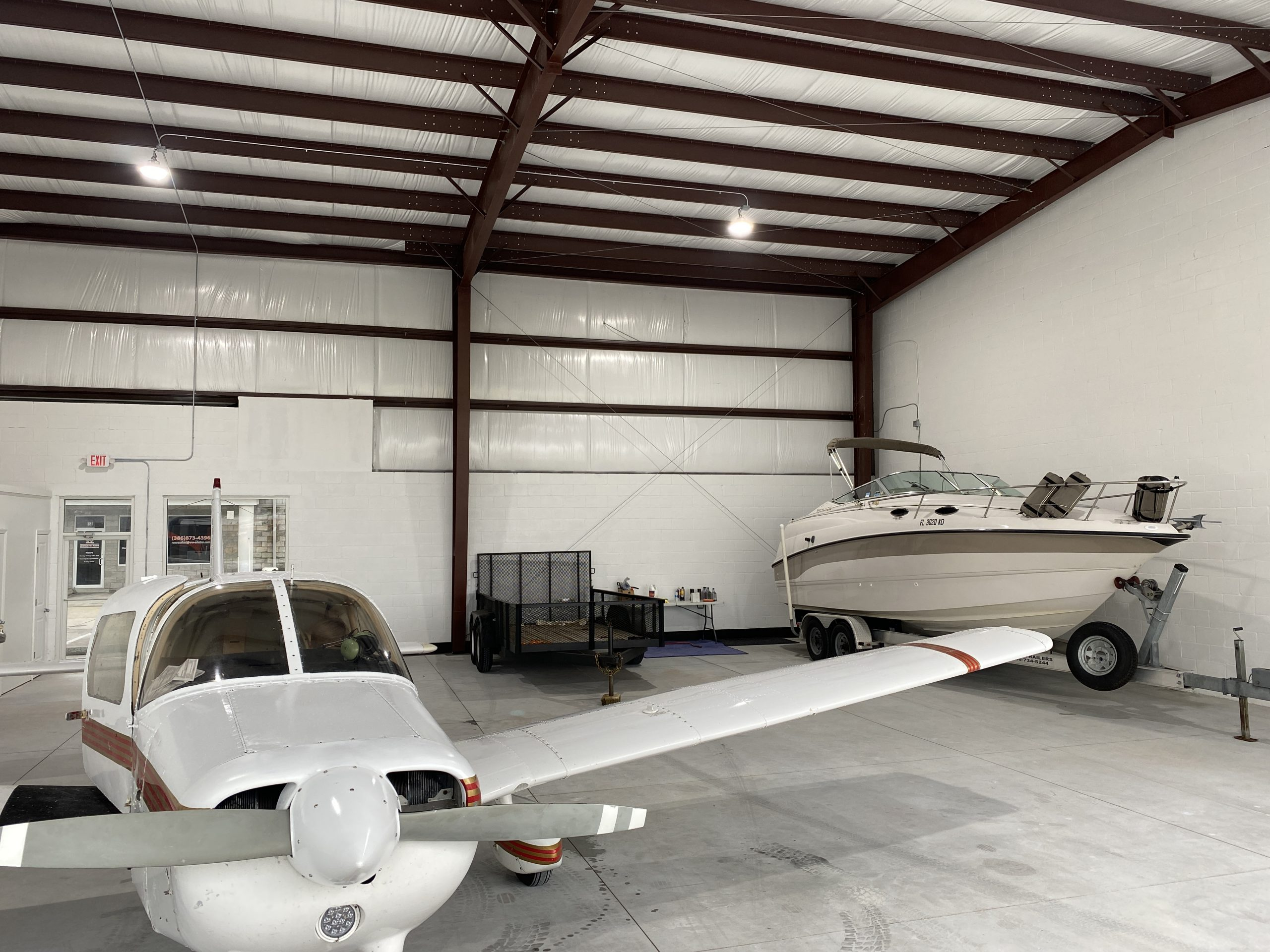 Recently Painted top half white and now in the Deland Hangar Ready for Rental
